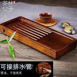 5Cgo ~ 七天交貨~530529185251 功夫茶具重竹子小茶盤整塊平板帶排水式茶台