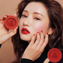 韩国3CE(3CONCEPT EYES) RED RECIPE经典正红色腮红霜(4g) 两款可选【美丽贩售机】