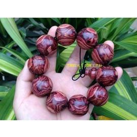 普通紫檀柳2.0cm藝輝紅木 2.0紫檀柳佛珠象海黃花梨佛珠紫檀瘤手串手鏈