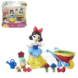 ~Playwoods~ 迪士尼公主DISNEY 迷你公主及 遊戲組:白雪公主的害羞鬼花園