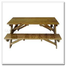 熊的木 ~南方松原木啤酒桌4尺~戶外實木啤酒桌.休閒啤酒桌.厚板啤酒桌~整張出貨. 另計~