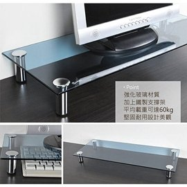 ~Dafar~強化玻璃螢幕桌上架 ^(置物架 萬用架 工作桌 電腦桌^)螢幕架桌上架置物架