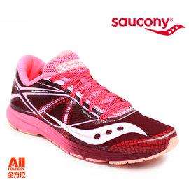 【Saucony】【全方位運動戶外館】女款慢跑鞋 TYPE A 輕量競速 -深紅粉 (190282)