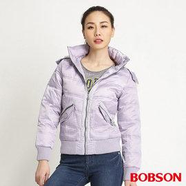 ~BOBSON~ 女款亮片羽絨外套^(紫31113~61^)