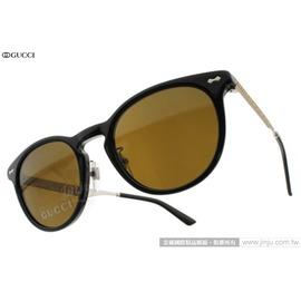 GUCCI 太陽眼鏡 GG1147FS CSAEC (黑) 鏡腳雕刻復古款 墨鏡 # 金橘眼鏡