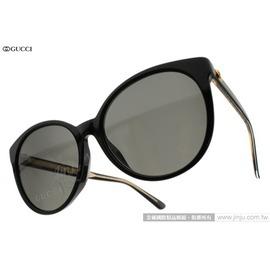 GUCCI 太陽眼鏡 GG3833FS Y6CNR (黑) 歐美時尚貓眼款 墨鏡 # 金橘眼鏡