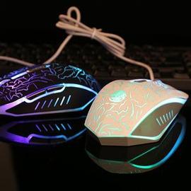 炫光牧馬人滑鼠usb臺式電腦筆記本CF LOL炫彩背光游戲滑鼠有線外貌鞋會
