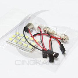 ~中科電子材料~11200056 5050白光 DC12V 15晶^(附BA9S、T10、