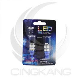 ~中科電子材料~11200116 T10 5050 9燈LED 藍光 DC12V  2PC