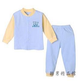 春 純棉男童女童長袖套裝寶寶開衫秋衣褲睡衣嬰兒衣服內衣套裝E E 3C