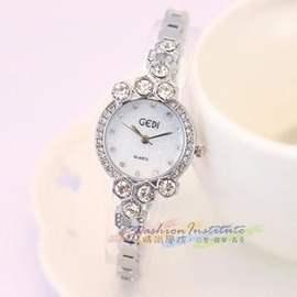 奢華蜂窩形手鍊手錶鑲鉆鍊條錶學生錶腕錶E E 3C