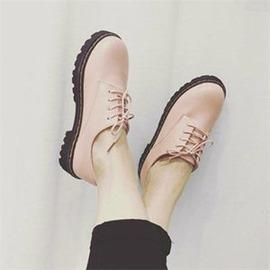 日系英倫學院風復古圓頭娃娃鞋低筒百搭馬丁鞋小皮鞋女鞋外貌鞋會