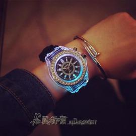 手錶情侶手錶男友送女生生日特別 新奇發光情人節 閨蜜 E E 3C
