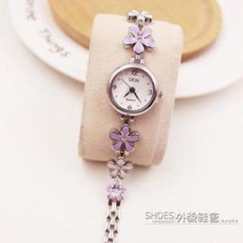 防水手鍊錶女手錶 女士手錶女韓國 潮流女錶女生石英錶E E 3C