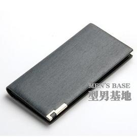 錢包男長款 超薄金砂多卡位 卡包 日韓學生青年潮短款皮夾E E 3C