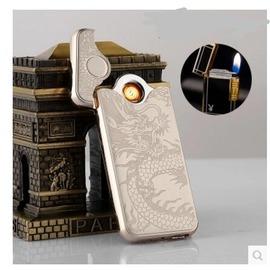 USB充電雙面點煙器電熱絲防風超薄 定制刻字電子打火機 1~13