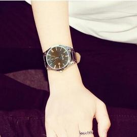 手錶 大錶盤中性潮流女錶皮帶男錶學生情侶超薄防水石英手錶 2~3