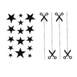 #9658 小清新刺青貼 #9665  Fairy Charm星星截角特惠套組防水紋身貼