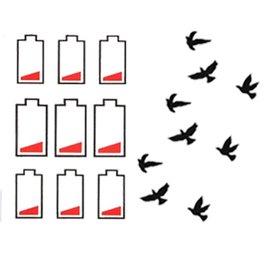 #9824  刺青貼 #9824 Fairy Charm待充電和平鴿特惠套組防水紋身貼