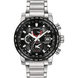CITIZEN星辰AT9071~58E金城武廣告款電波光動能腕錶 黑面43mm