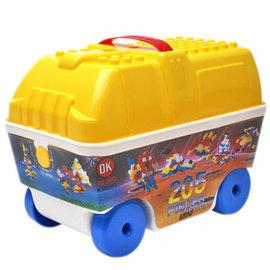 ~ OK~573 ~OK積木 車子提盒益智 顆粒積木組 205pcs╭~ JOYBUS歡樂