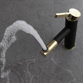 5Cgo ~ 七天交貨~539744082442 全銅烤漆衛浴室單孔面盆水龍頭冷熱台盆洗臉