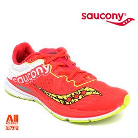 【Saucony】【全方位運動戶外館】女款慢跑鞋 FASTWITCH 輕量競速-螢光橘 (190321)