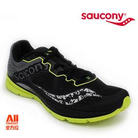 【Saucony】【全方位運動戶外館】男款慢跑鞋 FASTWITCH 輕量競速-黑螢青 (290321)