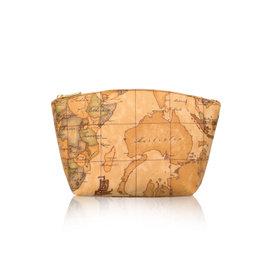 Alviero Martini 義大利地圖包_水餃拉鍊化妝包 中