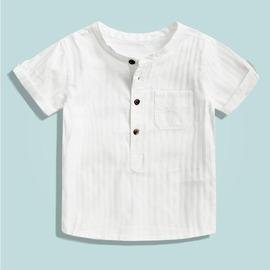 夏裝男童短袖白色襯衫T恤N4型男部落