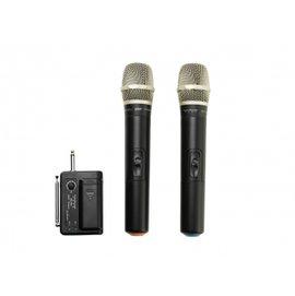 樂卡拉可攜式一對二UHF無線麥克風KM-102U     主持/教學/演講/K歌皆適用          高音質、高靈敏、最迷你、抗干擾、多種供電