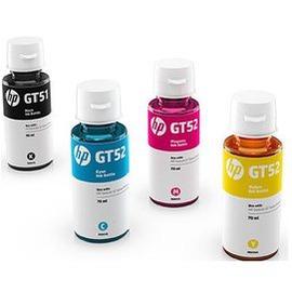 HP M0H57AA GT51黑色墨水 GT52 藍 紅 黃 3瓶彩色墨水瓶 :HP狠惠省