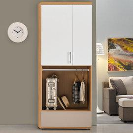 Homelike 曼特2.7x7尺雙吊衣櫃 衣櫥 收納櫃 臥室 木心板 免組裝專人配送