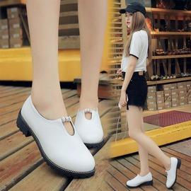 娃娃鞋 新品厚底鬆糕水鑽英倫風小白鞋女鞋學院風圓頭單鞋日系娃娃鞋N4浪漫衣櫥