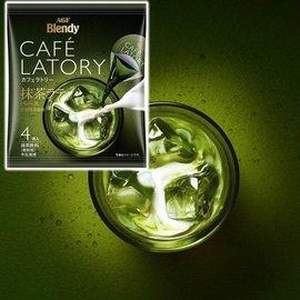 【AGF Blendy】CAFE LATORY浓缩抹茶球 4颗入 80g    抹茶 日本进口饮料
