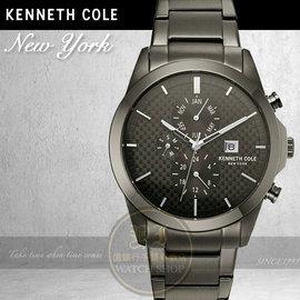 Kenneth Cole國際品牌都會 三環日曆腕錶KC10030793 貨
