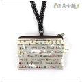 雨朵小舖防水包包U023-607 名片小零錢包-白兔子小房果02192 funbaobao