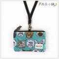 零錢包 包包 防水包 雨朵小舖Z~98~410 橫式證件零錢包~綠貓咪事務所08105 f