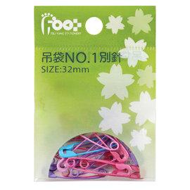 足勇 23012 吊袋裝彩色NO.1別針  12包 盒