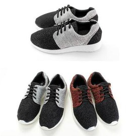 ~My style~富發牌~FL39 混織拼接慢跑鞋(黑 紅、黑 灰)23~25號~任兩雙