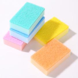 混色5枚入超好用糖果色百潔布廚房除垢海綿擦洗碗巾洗碗刷不沾油洗鍋擦刷鍋