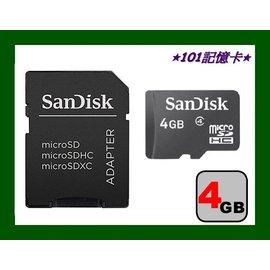 新品 SanDisk microSD 4GB microSDHC Class4 手機記憶卡