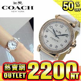 美 #22269  蔻馳 COACH手錶 14502399 14502400 簡約時間款石