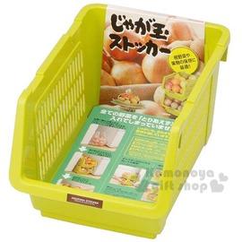 〔小禮堂〕 INOMATA 可疊放附滑輪蔬果收納籃~綠.深長方~耐重10kg4905596