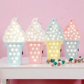 冰淇淋甜筒 電子LED燈店面壁掛招牌 美式夢幻普普色彩壁飾小夜燈可愛 ICE cream標