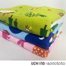 accototo 动物乐园 浴巾 / 婴幼儿 儿童 毛巾 无撚纱 纯棉  UCHINO