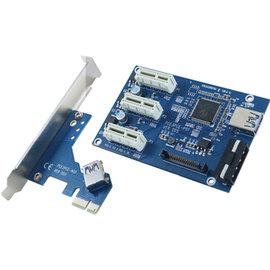 伽利略 PCI~E 1X 1 to 3埠 擴充卡 PEU3519A