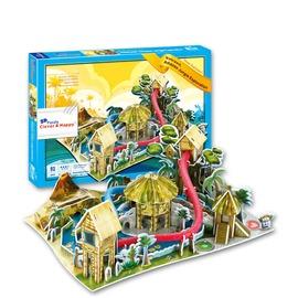 價~3D立體拼圖~主題樂園 水上樂園_Puzzle 3D拼圖 商檢合格 DIY免工具_生日
