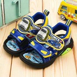 童鞋城堡-Tomica多美小汽车 中童 汽车造型LED灯凉鞋-TM3618-蓝