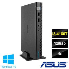 【ASUS】华硕 迷你桌上型电脑 E510-4165RTA(i3-4160T双核心/4G/128G SSD/Win10)急速硬盘
